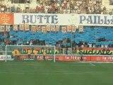 MHSC - Boulogne : tifo des Ultras Pailladins