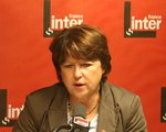 France Inter - Martine Aubry