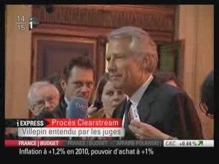 Villepin 30 sept. 2009 déclaration