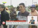 Trabajadores despedidos protestan contra Ledezma