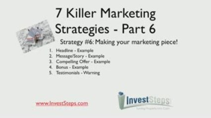 7 Killer Real Estate Marketing Strategies – Part 6#1