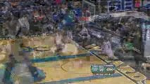 Erick Dampier gets a block and ends with a Shawn Marion dunk