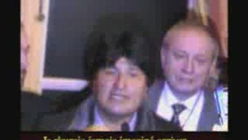 Evo Morales Discours Maison de l'Amérique Latine 06/01/2006