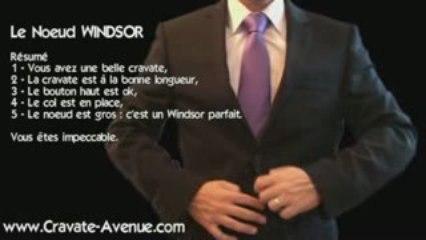 Le noeud de cravate Windsor - Faire un noeud de cravate