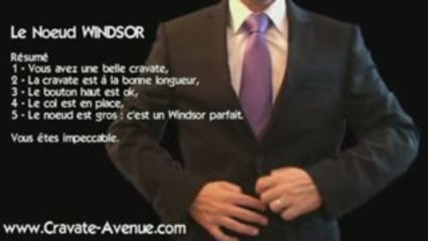 Le noeud de cravate Windsor - Faire un noeud de cravate
