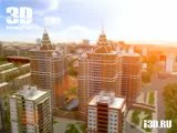 3D visualisation architectural complex Tihvinsky