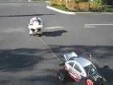 bebe chaise roulante voiture radiocommandee