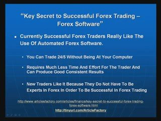 Key Secret To Successful Forex Trading – Software