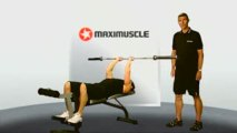 Tricep exercises - Lying Triceps Extension Demo - Maximuscle