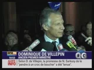 Villepin: Marin a obéi à Sarkozy