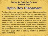 Putting An Optin Box On Your Squeeze Page