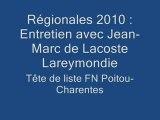 Régionales Poitou-Charentes : Entretien avec le candidat FN