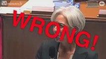 Le lapsus de Christine Lagarde devant l'Assemblée