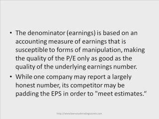 Learn Stock Trading – PE Ratio