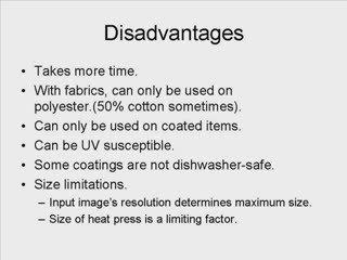 Advantages of Sublimation