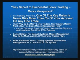 Secret To Successful Forex Trading – Money Management