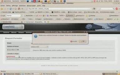 Installation et connfiguration d'un serveur FreeNas (Raid1)