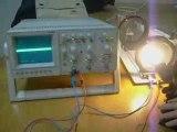 Emission des ampoules fluocompactes ondes électromagnétiques