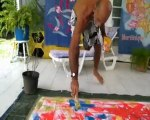 DEMONSTRATION MOUVEMENTEE D'ART ABSTRAIT PAR MARCEL TRONET