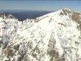 Survol de la montagnes corse sous la neige le 11/11/2009