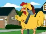 Family Guy chicken fights with music hilarious!