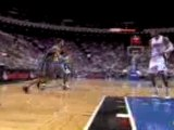 NBA Jameer Nelson finds Dwight Howard down low for the slam.
