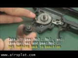 Airsoft AEG ICS AK47 Gearbox disassembly by AirSplat