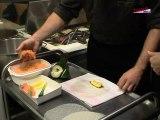 Recette Bouchées aux crevettes confites et au saumon