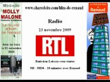 Renaud - RTL 23/11/2009 Laissez vous tenter - Molly Malone