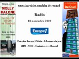 Renaud - Europe 1 18/11/2009 L'homme du jour - Molly Malone