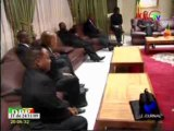 Denis Sassou Nguesso reçoit la délégation sud-africaine