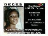 Communiqués nécrologiques du 25-11-09