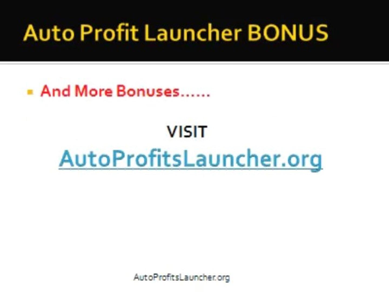 Auto Profit Launcher- Auto profit launcher bonus