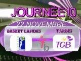 LFB  J10 BASKET LANDES - TARBES 2009 -2010