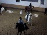 Marion et Mika, chute debout !! petit galop   CHV