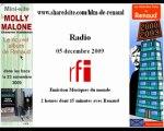 Renaud RFI 05/12/09 Musiques du monde - promo Molly Malone