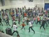 (répétition )La flashmob de la chaine de l'espoir au Louvre