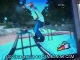 chien qui fait de la wii skateboard