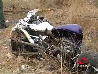Accidente mortal de moto en la carretera de Las Peñas