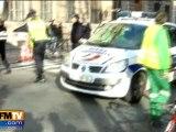 Une femme renversée par un car de police