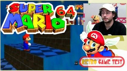 """Super Mario 64 """"Nintendo 64""""  Retro Game Test."""