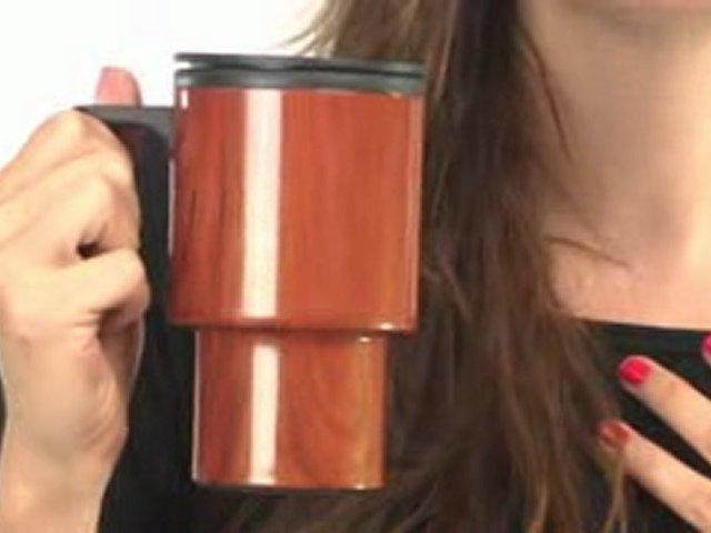 Wood Grain Travel Mugs with Jillian