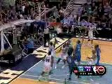 NBA Deron Williams throws a wonderful pass to Carlos Boozer,