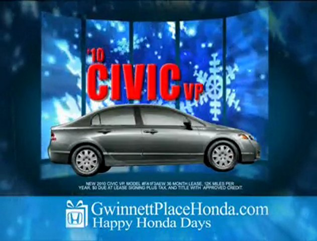 Happy Honda Days from Atlanta's Honda Dealer GP Honda