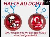 KFC et Quick halal ? En tous cas AVS dément ...