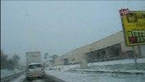 Clermontois, premières averses de neige de l'hiver 2009