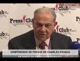 La Conférence de presse de Charles Pasqua