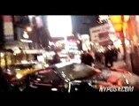 Un accident de voiture sur le tournage d'un film à New Yor
