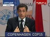 EVENEMENT,Conférence de presse de Nicolas Sarkozy en direct de Copenhague