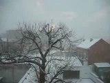 la neige depuis mon balcon à bruxelles